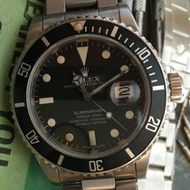 Rolex Ss Vintage Submariner Date 16800 Black Matte Dial 40mm...