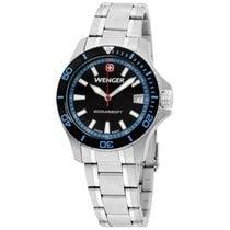 Wenger Black Dial Stainless Steel Ladies Watch 010621107