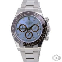 Rolex Daytona Platinum Ice Blue Dial and Brown Bezel - New 116506
