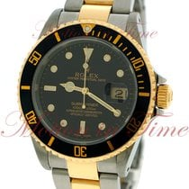 Rolex Submariner, Black Dial - Stainless Steel & Yellow...