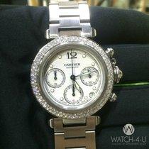 Cartier Pasha De Cartier 2412 Chronograph Diamond bezel