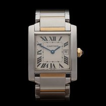 Cartier Tank Francaise Mid Size Stainless Steel/18k Yellow...