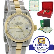 Rolex DateJust 79163 Two Tone Gold Steel Oyster No Holes Watch