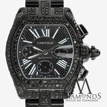 Cartier Black Diamond Cartier Roadster Xl W62020x6 Dial...