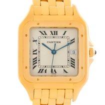 Cartier Panthere Xl 18k Yellow Gold Date Quartz Watch W25014b9