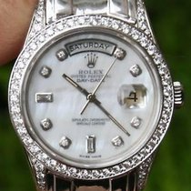 Rolex 18k White Gold Day-date Pres Masterpiece Diamonds