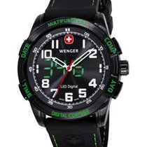 Wenger Mens LED Nomad Compass - Green & Black - Black...