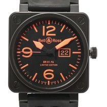 Bell & Ross Aviation BR01 96 PVD Automatic Watch BR01-96-SO