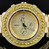 Breitling Iced Out 38 Ct Mens New Breitling Super Avenger...