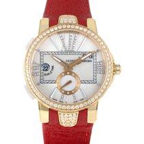 Ulysse Nardin Executive Dual Time Lady 18K Rose Gold Diamond...