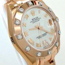 Rolex Pearlmaster Masterpiece Midsize 81315 18k R Gold Mop...
