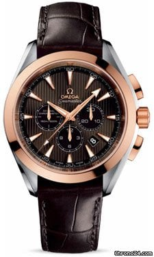 Omega Seamaster Aqua Terra Chronograph Steel And Red Gold