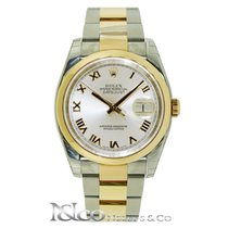Rolex DateJust Everose Gold Two Tone Domed Bezel