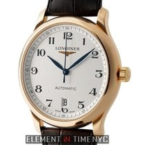 Longines Master 39mm 18k Rose Gold Silver Dial Automatic