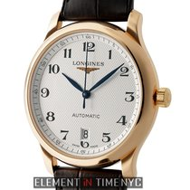 Longines Master 39mm 18k Rose Gold Silver Dial Automatic Ref....