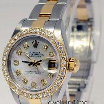 Rolex Ladies Datejust Steel & 18k Gold Diamond & MOP...