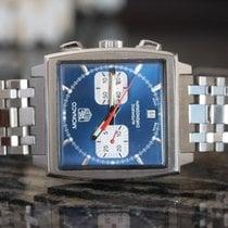 TAG Heuer Blue Dial Monaco Chronograph on Bracelet