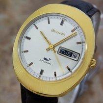 Bulova Mens Midsized Automatic Gold Plated Swiss 1968 Classic...