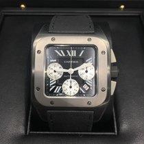 Cartier Santos 100 XL Chronograph Titanium Black Dial W2020005