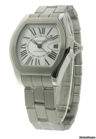 Cartier Roadster Large Mens Steel Date Automatic W6206017