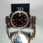 Rolex DateJust Lady 31mm Steel and Rose Gold Custom Diamond Bezel
