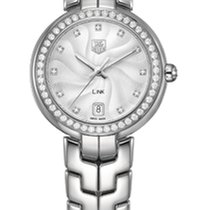 TAG Heuer Link Lady Quartz Silver Guilloché Dial and Diamonds