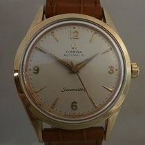 Omega vintage 1958 seamaster automatic cape in gold ref...