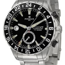 Perrelet Diver Seacraft GMT Dual Time Zone Automatic Steel...