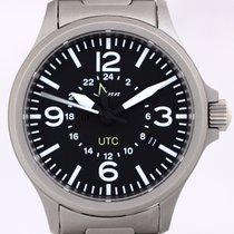 Sinn UTC Fliegeruhr 856 GMT black dial Steel B+P Top