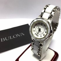 Bulova Ceramic & Stainless Steel Watch W/ Factory Diamonds...