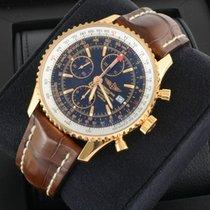 Breitling NAVITIMER WORLD 18K Gold Chronograph GMT 46 mm