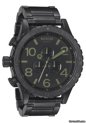 Nixon The 51-30 Chrono Matte Black/Surplus Herrenchronograph