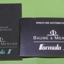 Baume & Mercier vintage warranty and booklet formula s...
