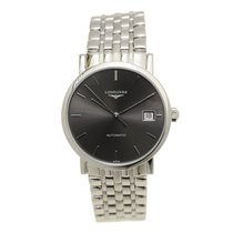 Longines Elegant Stainless Steel Dark Grey Automatic L4.809.4....
