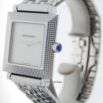 Boucheron Classique 30mm Square 18K White Gold Watch