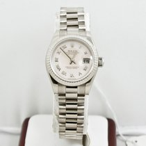 Rolex Ladys White Gold President Watch 179179 Rolex MOP Dial
