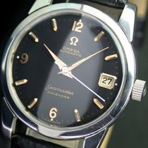 Omega Seamaster Calendar Automatic Date Black Dial Steel Men...