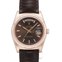 Rolex Day-Date Brown/Leather Ø36 mm - 118135