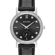 Bulova Womens Crystal Watch - Swarovski - Black Dial - Black...