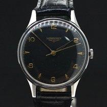 Longines Black Dial Gold Indexes Handaufzug Super Zustand ca.1970