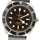 Tudor Heritage Black Bay 79220n Black Dial On Leather  W/...