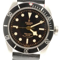 Tudor Heritage Black Bay 79220n Black Dial On Leather  W/...