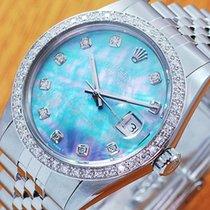 롤렉스 (Rolex) Rolex 18K MOP S/S Pearl Diamond Automatic Men'...