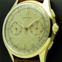 Longines Vintage Chronograph 18 Kt yellow gold, mov. CH30