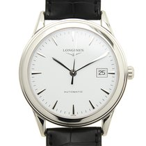 Longines Flagship Stainless Steel White Automatic L4.874.4.12.2