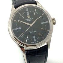 Rolex Cellini Time 18K 750 Weissgold Schwarz Black Automatik...