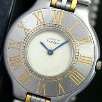 Cartier Must De 21 Quartz Steel Gold Unisex Wrist Watch &...