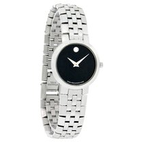 Movado Faceto Ladies Sst Swiss Dress Watch 0605041