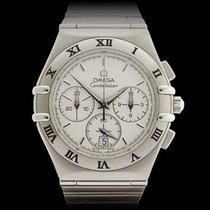 Omega Constellation Double Eagle Chronograph Stainless Steel...
