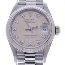 Rolex Datejust Lady 26mm 69179 Factory Silver Diamond Dial...